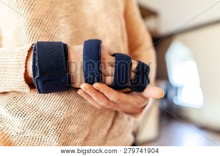 Medicinal Arm Sling On The