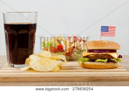 Delicious Cheeseburger With Beef Cheddar