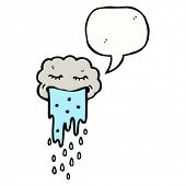 image of puke  - gross cartoon cloud vomiting rain - JPG