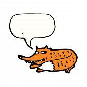 foto of sneaky  - sneaky little fox cartoon - JPG