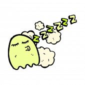 sleeping ghost cartoon