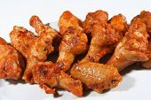 stock photo of chicken wings  - hot and fresh chicken wings for lunch - JPG