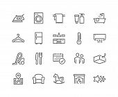Simple Set Of Hotel Related Vector Line Icons. Contains Such Icons As Available Date Calendar, Toile poster