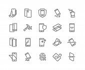 Simple Set Of Smartphone Protection Related Vector Line Icons. Contains Such Icons As Screen Protect poster