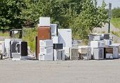 Old Appliances At A Garbage Dump