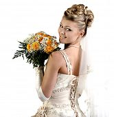 Bride. Beautiful woman in a wedding dress.