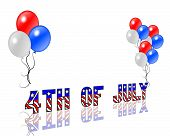 July 4Th Balloons And Text