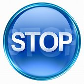Stop Icon Blue