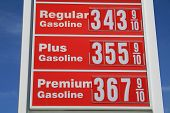 picture of high-octane  - Sign showing high gas prices in the United States - JPG