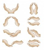 Vector hands icons. Simply change. Other hands icons you can see in my portfolio.