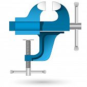 Vector 3D icon of vise