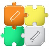 Hacksaw. Vector puzzle.