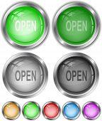 Open. Vector internet buttons.