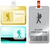 Traveller. Vector id cards.