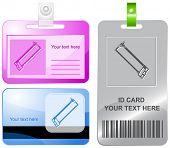 Hacksaw. Vector id cards.