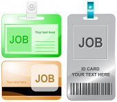 Job. Vector id cards.