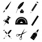 Vektor-Icons von Office-tools