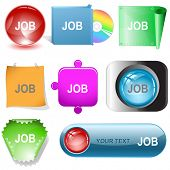 Job. Vector internet buttons.