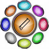Serra Tico-tico. Botões de internet do vetor. 8 projeções diferentes.