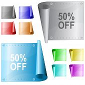 50% OFF. Vector metal surface.