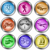 Vector icons of transport