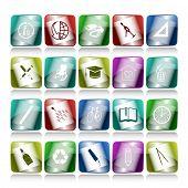 Постер, плакат: Векторный набор кнопок Интернет 20 элементов
