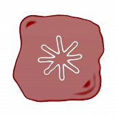 A Reddish Brown Stone Of Asterisk Symbol
