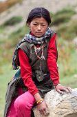 tibetische Mädchen