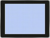 Black Abstract Tablet Computer ipad (tablet Pc) On White Background