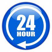 Vektor-Zeichen vierundzwanzig Stunden