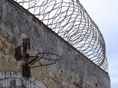 Prison Razor Wire Wall