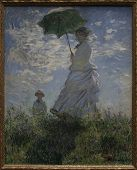 The Walk Woman With A Parasol Claude Monet 1875