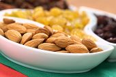 Almonds, Sultanas, Raisins
