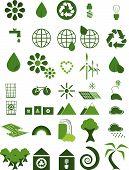 Iconos ambientales verdes