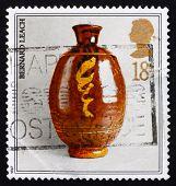 Postage stamp GB 1987 Studio pottery by BernardLeach