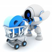 Robot y carro E-shop