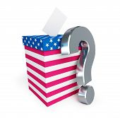 Usa Vote Question Mark