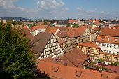stock photo of regnitz  - The German City Bamberg from the top - JPG
