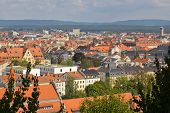 image of regnitz  - The German City Bamberg from the top - JPG