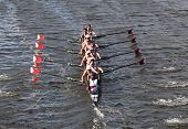 BOSTON - OCTOBER 21: Marin Rowing Association races in the Head of Charles Regatta, Marin Racing won