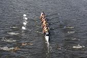 Jesuit College Prep Dallas races in the Head of Charles Regatta