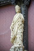 Rouen - Cathedral Exterior, Statue