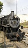 Antique Steam Locomotive From The Pennsylvania Railroad. No. 475