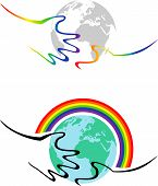 Gay Symbolism - Hands Hold The Earth.eps