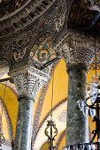Hagia Sophia Interior Pillars And Arches