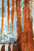Damaged Metal Surface Streaked With Rust