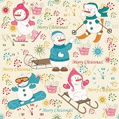 Colorful Christmas pattern seamless