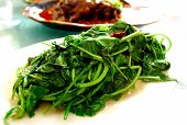 Traditional Sichuan food cooked vegetable