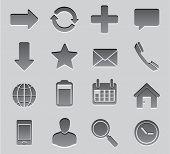 Set Icon toolbar vector