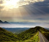 stock photo of broad-bodied  - Way to beautiful placeWay to beautiful place for adv or others purpose use - JPG